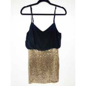 Lumiere Black and Gold Sequence Dress